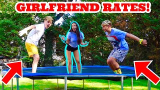 GIRLFRIEND RATES OUR TRAMPOLINE FLIPS! *Soloflow VS Jack Doherty*