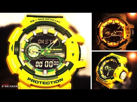 Casio G-Shock Green and Yellow GA400CS-9A Analog Digital Watch