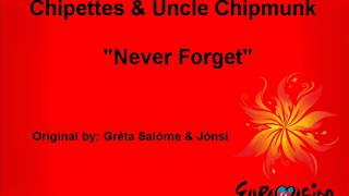"Chipettes & Uncle Chipmunk - ""Never Forget"" (Eurovision 2012 Iceland)"