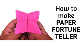 How to make an origami paper fortune teller   Origami / Paper Folding Craft, Videos and Tutorials.