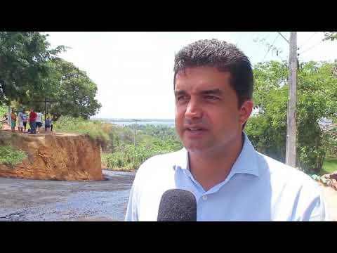 Prefeito Rui Palmeira vistoria pavimentação em Bebedouro