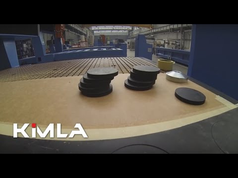 Cutting rubber on an industrial router