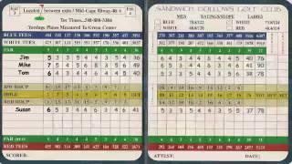 Understanding Your Golf Score Card