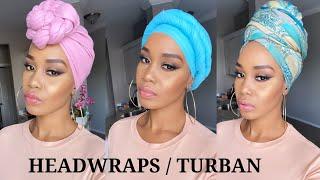 6 Quick & EASY Headwrap/ Turban Styles / Tutorials /Tupo1