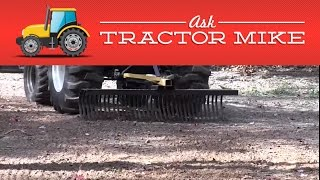 Establishing a New Lawn with a Tractor and Rock Rake