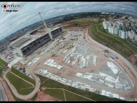 Vôo sob a Arena do Corinthians em 24/03/2013