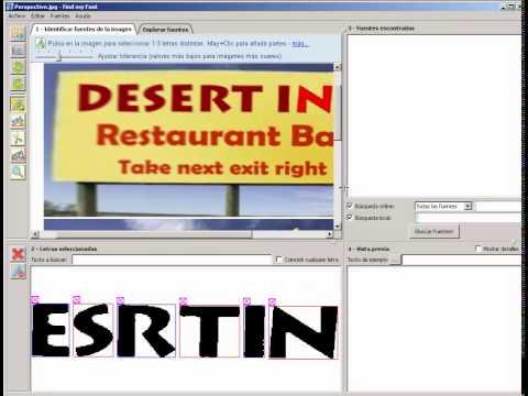 Identificación de fuentes, letras o tipografias (2)
