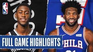NETS at 76ERS | FULL GAME HIGHLIGHTS | February 20, 2020