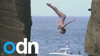 Don't look down! Britain's Gary Hunt leads Cliff Diving World Series