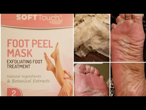 Soft Touch Foot Peel Mask Exfoliating Foot Treatment Review #footpeel #softtouch #footmask