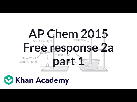 2015 AP Chemistry free response 2a (part 1 of 2) (video