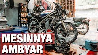BONGKAR MESIN Motor Tua + Tes Oli 2 Tak - Suzuki RGR 150 #dimvlog 354