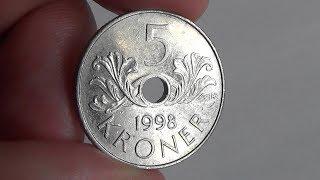 Kongeriket noreg 5 kroner 2000