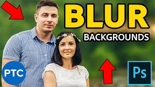 How To Blur Backgrounds In Photoshop - Shallow Depth of Field Effect [Lens Blur and Depth Maps]