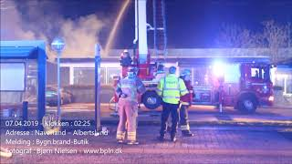 07.04.2019 – Voldsom brand i butik – Albertslund