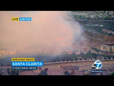 Brush fire burns in hills of Santa Clarita | ABC7