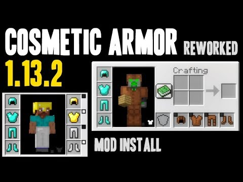 COSMETIC ARMOR REWORKED MOD 1.13.2 minecraft - how to download install Cosmetic Armor (with Forge)