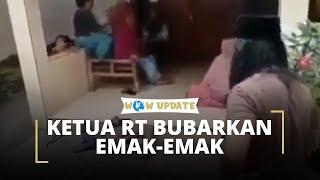 Lemparkan Wajan, Cara Unik Ketua RT Bubarkan Gerombolan Emak-emak di Teras Rumah