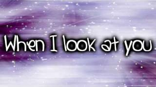 Miley Cyrus- When I Look At You (Lyrics)