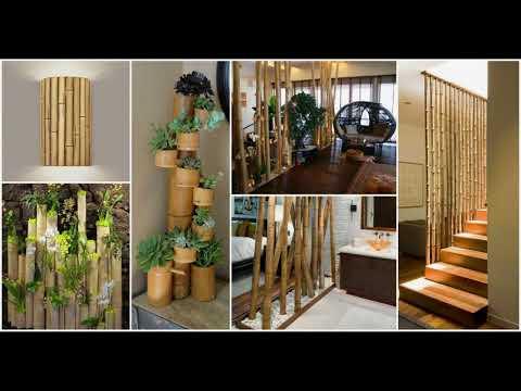 Bamboo Interior Design Ideas | Garden Wall Art Furniture House Home Decor Desk Roof Chair 2018