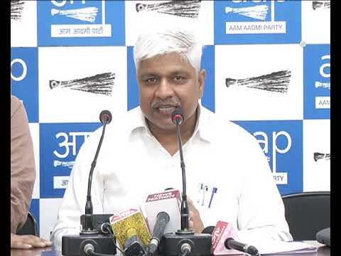 AAP Senior Leader Rajendra Pal Gautam Press Conference