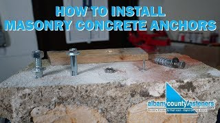 How to Install Masonry & Concrete Anchors   Fasteners 101