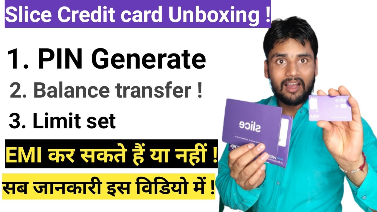 Slice Charge Card Unboxing|Usage Slice Charge card|PIN produce|EMI Convert online|Trickydharme thumbnail