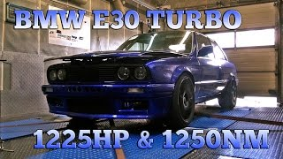 BMW E30 3,6L M5 Turbo engine 1225HP Dyno 2016
