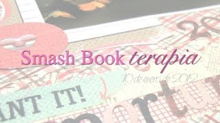 Smash Book terapia: 10.01.13 *Cómo hacer un Diario de Scrap*  Smash book tutorial