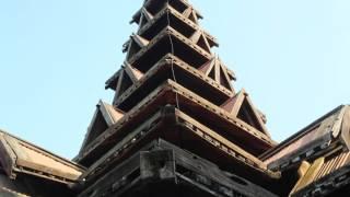 Birmanie Ava Bagaya monastery / Myanmar Ava Bagaya monastery