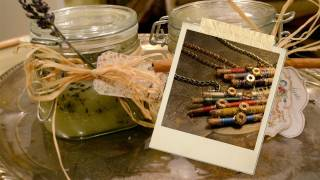 Holiday Tutorial #4 Necklace and Scrub - Gift For Her and Mom - Mr. Kate's 12 DIYs of the Holidays