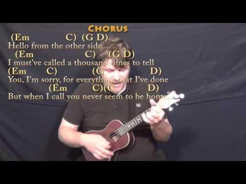 Hello (Adele) Ukulele Cover Lesson in Em with Chords/Lyrics