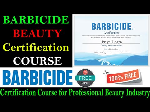 BARBICIDE Certification Course for Professional Beauty Industry ...