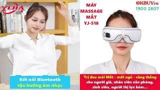 Video máy massage mắt xoa bóp áp suất khí có nhiệt sưởi YIJIA YJ-518 - Hỗ trợ cải thiện thị lực