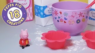 Peppa Pig Creations 18 - Bake cupcakes with Peppa Pig And Mandy Mouse! (new 2017) #PeppaPig