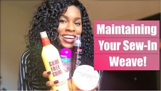 How To Maintain Your Weave + The Best Products For Curly Hair! | Mica Blackman