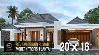 Video Desain Rumah Modern 1 Lantai Bapak Rofi di  Medan, Sumatera Utara