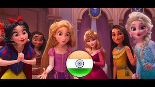 Vanellope meets the Disney Princesses (Hindi) | RALPH BREAKS THE INTERNET