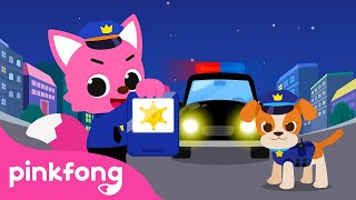 Catch the Thieves!🚓   Police Officer   Job Songs for Kids   Occupations  Pinkfong Songs for Children