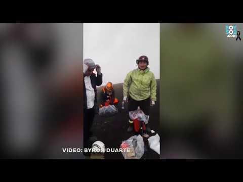 Los videos del bombero que sobrevivió al Volcán de Fuego
