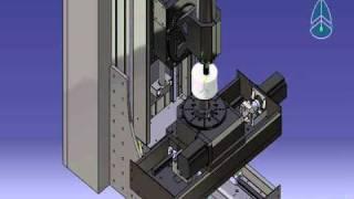 Video Mô phỏng máy phay 5 trục bằng Catia (Five axis milling cnc machine simulation by Catia)