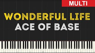 Ace of Base - Wonderful Life (Instrumental Tutorial) [Synthesia]