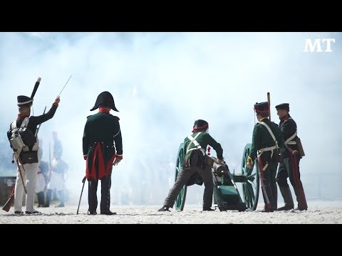 Russian History Enthusiasts Re-Enact Battle of Borodino