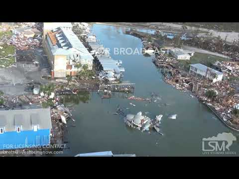 Hurricane Michael's catastrophic aftermath seem from a helicopter in Mexico Beach, Fl.