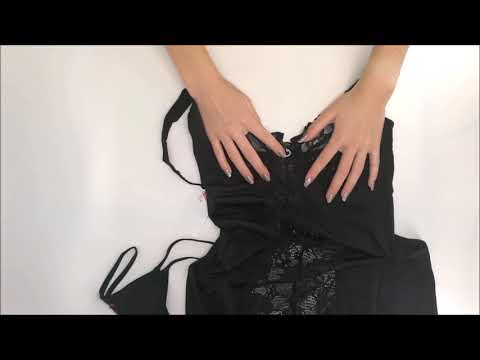 Nádherná košilka Heartina chemise black - Obsessive