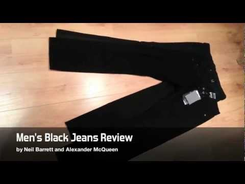 Men's Black Designer Jeans Alexander McQueen & Neil Barrett Review
