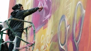 preview picture of video 'INTI / Mulhouse Habitat : sky's the limit, les peintres de l'extrême'