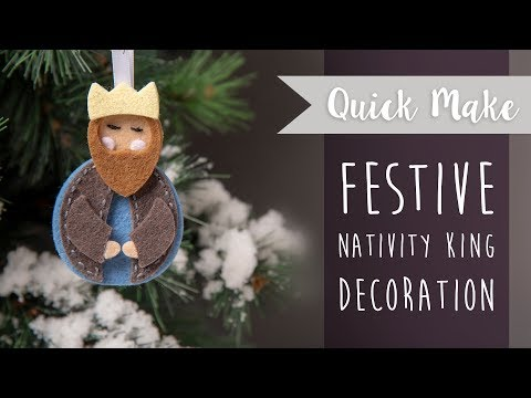 Nativity King Christmas Bauble - Sizzix