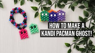 HOW TO MAKE A KANDI/BEADED PACMAN GHOST! /Step By Step/How To Tutorial!
