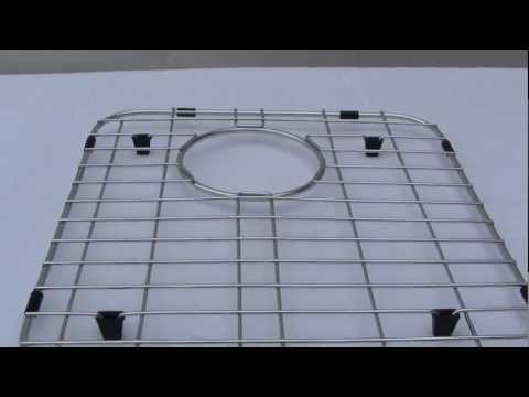 Video for Right Solid Stainless Steel Kitchen Sink Grid